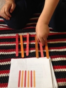 Craft Stick Pattern Matching