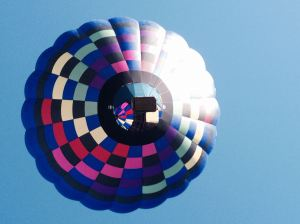 We got to see an amazing hot air balloon show this weekend!
