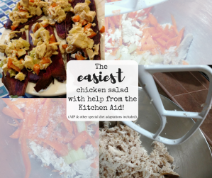 The easiest chicken salad with help from the Kitchen aid! (AIP and other special diet adaptations included)