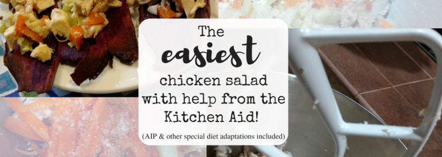 The easiest chicken salad with help from the Kitchen aid! (AIP and allergy-friendly adaptations included)